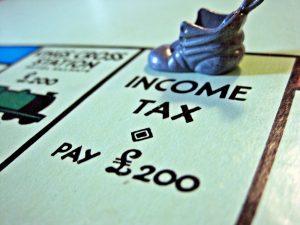 Income Tax - Monopoly Board