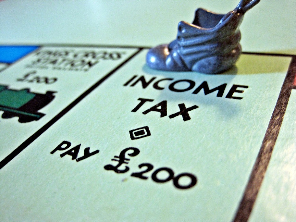 Income Tax - Monopoly Board